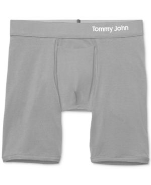 TOMMY JOHN Cool Cotton Boxer Briefs in Iron Grey