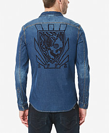 Buffalo David Bitton Men's Somitel Woven Denim Shirt