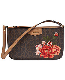 Calvin Klein Signature Floral Shoulder Bag