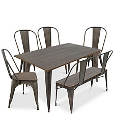 Oregon 6-Pc. Dining Set, Quick Ship