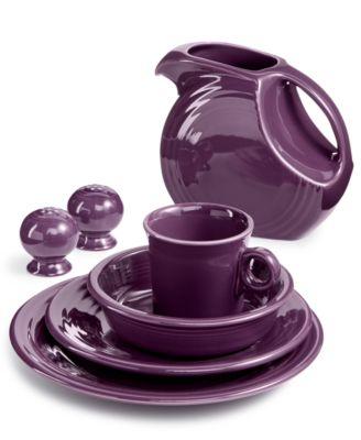 Fiesta Mulberry Dinnerware Collection  sc 1 st  Macy\u0027s & Fiestaware Dishes Glasses Mugs \u0026 More - Macy\u0027s