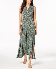 MICHAEL Michael Kors Petite Floral-Print Slit-Hem Dress