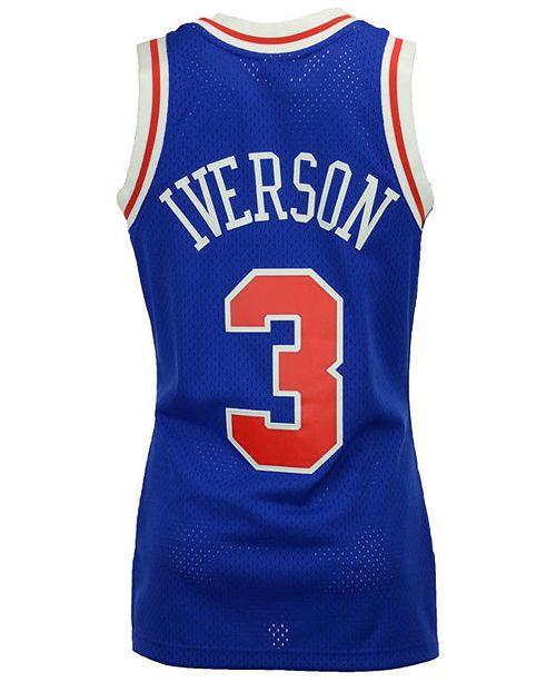 11356bcafa7 ... Mitchell   Ness Men s Allen Iverson Philadelphia 76ers Hardwood Classic  Swingman Jersey ...