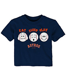 Outerstuff Houston Astros Eat, Sleep, Play T-Shirt, Infant Boys (12-24 Months)