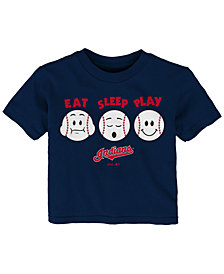 Outerstuff Cleveland Indians Eat, Sleep, Play T-Shirt, Infant Boys (12-24 Months)
