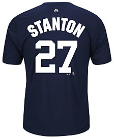 Majestic Men's Giancarlo Stanton New York Yankees Cool Base Name and Number T-Shirt