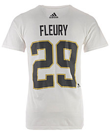 adidas Men's Marc-Andre Fleury Vegas Golden Knights Silver Player T-Shirt