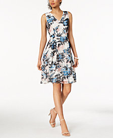 Ivanka Trump Floral Printed Mesh Dress