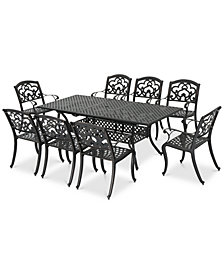 Hensley 9-Pc. Outdoor Dining Set, Quick Ship