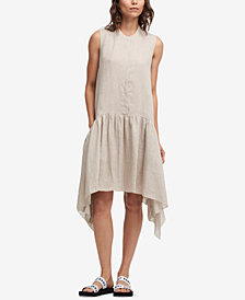 DKNY Dropped-Waist Linen Dress, Created for Macy's