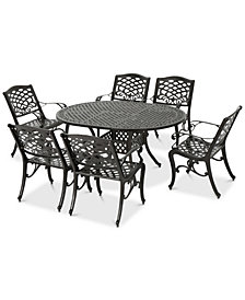 Olsen 7-Pc. Outdoor Dining Set, Quick Ship