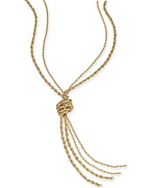 "Charter Club Double Rope Knotted Lariat Necklace, 32"" + 2"" extender, Created for Macy's"