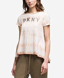 DKNY Embroidered Tie-Dye Trapeze T-Shirt, Created for Macy's