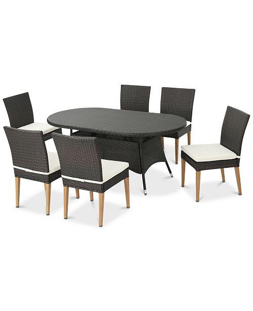 Furniture Brandon 7-Pc. Dining Set, Quick Ship