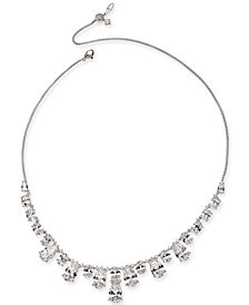 Danori Silver-Tone Crystal Collar Necklace, Created for Macy's