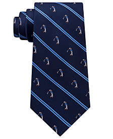 Club Room Men's Stripe Golfer Silk Tie, Created for Macy's