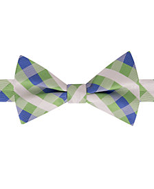 Tommy Hilfiger Men's Derby Small Gingham To-Tie Silk Bow Tie
