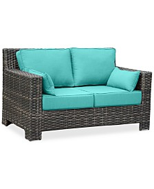 Viewport Outdoor Loveseat Replacement Sunbrella® Cushion, Quick Ship