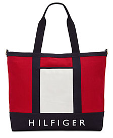 Tommy Hilfiger Sporty Signature Canvas Tote