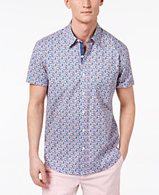 Con.Struct Men's Slim-Fit Stretch Floral Ditsy-Print Shirt, Created for Macy's