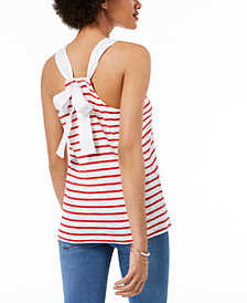 Maison Jules Tie-Back Tank Top, Created for Macy's