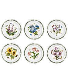 Portmeirion Botanic Garden Set/6 Assorted  Dinner Plate