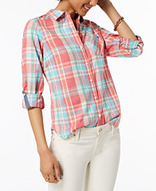 Tommy Hilfiger Plaid Shirt, Created for Macy's