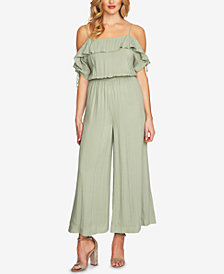 CeCe Cold-Shoulder Wide-Leg Jumpsuit
