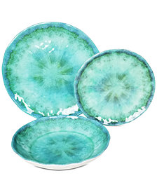 222 Fifth Fountain Turquoise 12-Pc. Melamine Dinnerware Set