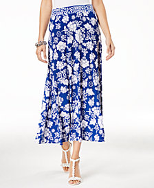I.N.C. Printed Midi Skirt, Created for Macy's