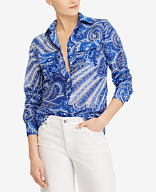 Lauren Ralph Lauren Paisley Shirt, Created for Macy's