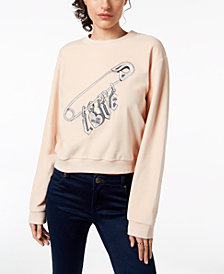 Love Moschino Velvet Love Pin Sweatshirt