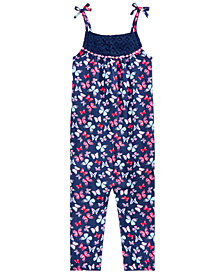 Epic Threads Little Girls Butterfly-Print Romper, Created for Macy's