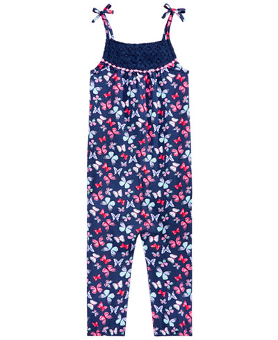 Epic Threads Toddler Girls Butterfly-Print Romper, Created for Macy's
