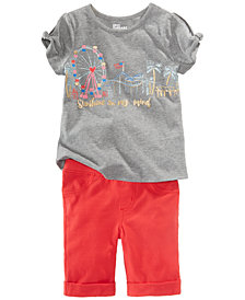 Epic Threads Little Girls Carnival T-Shirt & Bermuda Shorts, Created for Macy's