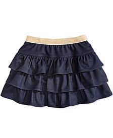 Epic Threads Little Girls Ruffled Denim Scooter Skirt, Created for Macy's
