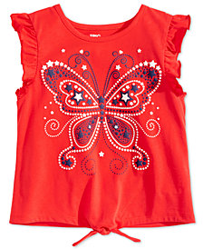 Epic Threads Little Girls Ruffle-Sleeve Graphic-Print T-Shirt, Created for Macy's