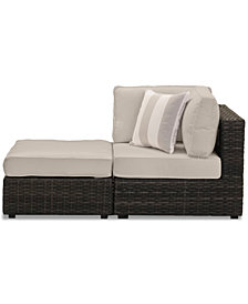 Viewport Outdoor 2-Pc. Modular Seating Set (1 Corner Unit and 1 Ottoman) with Custom Sunbrella® Cushions, Created for Macy's