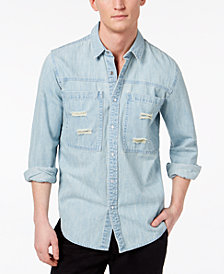 American Rag Men's Denim Shirt, Created for Macy's