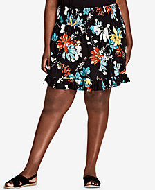 City Chic Trendy Plus Size Ruffled Skirt