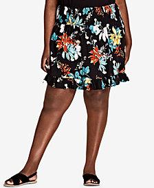 City Chic Trendy Plus Size Ruffled Skirt