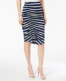 Vince Camuto Ruched Pencil Skirt