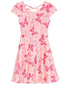 Epic Threads Big Girls Butterfly-Print Skater Super-Soft Dress, Created for Macy's