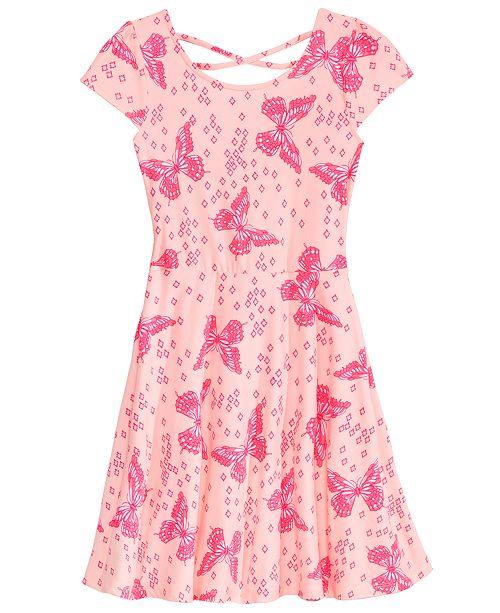 edbadfa0f875 ... Epic Threads Super Soft Big Girls Butterfly-Print Skater Super-Soft  Dress