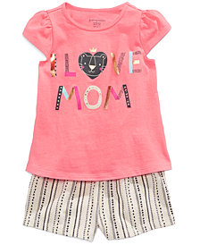 First Impressions Baby Girls Printed Top & Shorts Separates, Created for Macy's