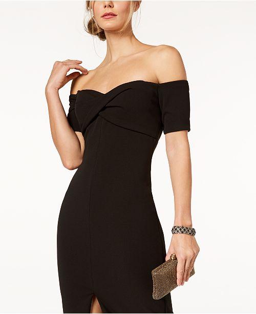 04d081b83f20 Betsy   Adam Off-The-Shoulder Sweetheart Sheath Dress   Reviews ...