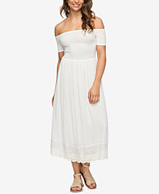 Roxy Juniors' Pretty Lovers Off-The-Shoulder Dress