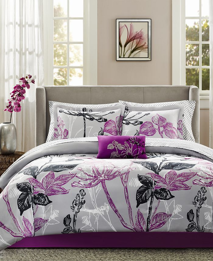 Madison Park - Essentials Claremont 9-Pc. Full Comforter Set