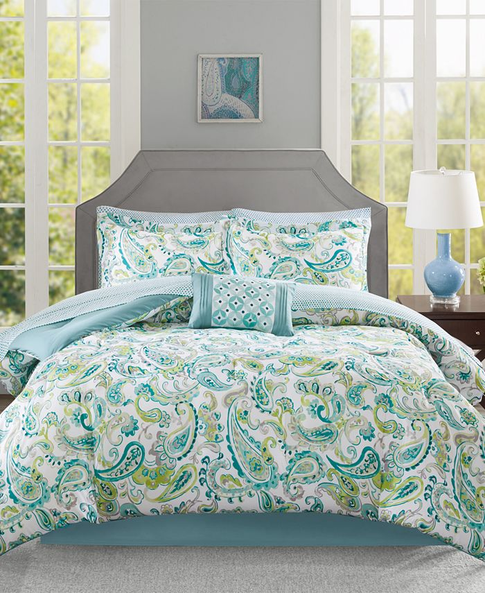 Madison Park Lila 7 Pc Twin Comforter, Madison Park Bedding Lyla