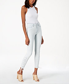 Joe's The Charlie High-Rise Lace-Up Skinny Jeans